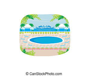 exotique, pool., délassant, natation