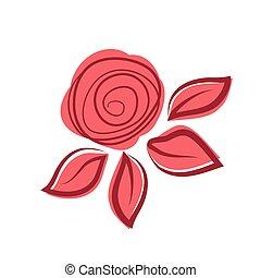 exotique, rose, résumé, flower.