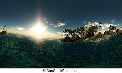 exotique, soleil, plage, panoramique