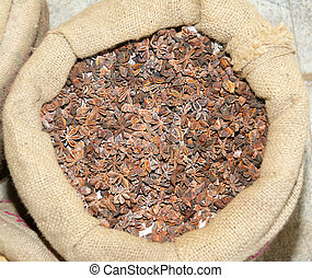 exotique, spice., star-anise., beau