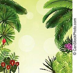 exotique, stylique floral, foliage.