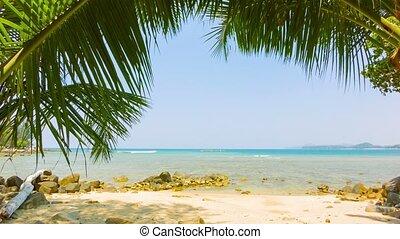 exotique, thaïlande, gens., sans, plage