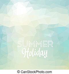 exotique, vacances été, plage, fond