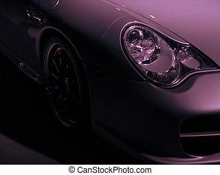 exotique, voiture, détail