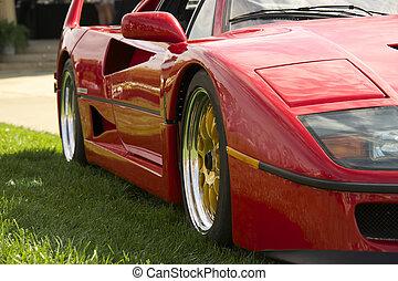 exotique, voiture, italien, 1, sports