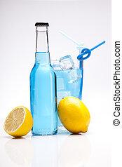 exotische , flasche, alkohol, cocktail