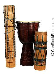 exotische , groep, trommels, afrikaan