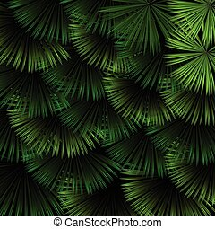 exotische , model, bladeren, tropische