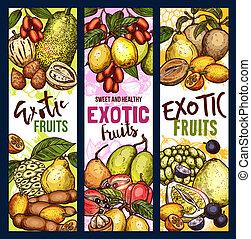 exotisches essen, fruechte, beere, lieb