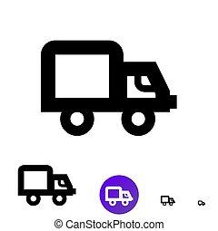 expédition, business, vecteur, camion, e-commerce., ligne, icône