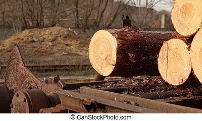expédition, mécanisme, bois construction