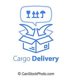 expédition, transport, emballage, relocalisation, distribution, services, fret, cargaison