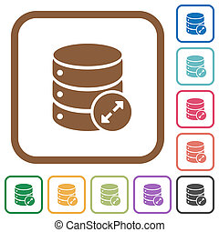 Expand database simple icons