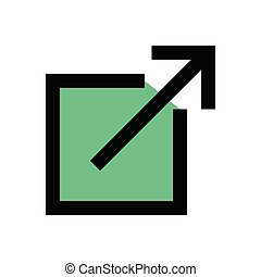 expand flat color icon