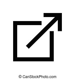 expand glyph flat icon
