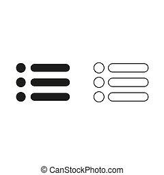 expand menu button - green vector icon