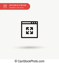 Expand Simple vector icon. Illustration symbol design template for web mobile UI element. Perfect color modern pictogram on editable stroke. Expand icons for your business project