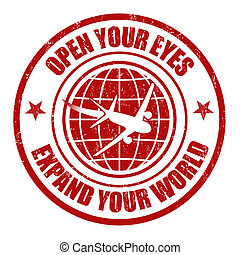 Expand your world stamp