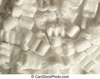 Expanded polystyrene beads for packaging background