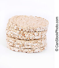 Expanded wheat crackers