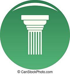 expandindo, coluna, ícone, vetorial, verde