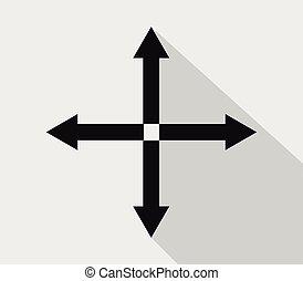 expandir, ícone seta
