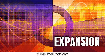 Expansion Focus Concept on a Futuristic Abstract Background