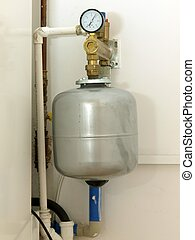 Expansion vessel with an indicator for condensing boiler
