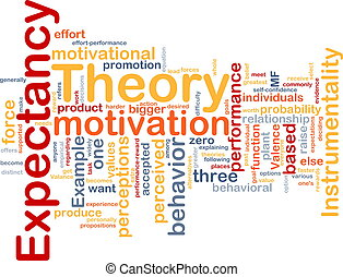 Background concept illustration of business expectancy theory