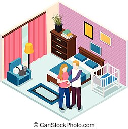 Expectation Baby Isometric Composition