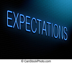 Expectations concept. - Illustration depicting an ...
