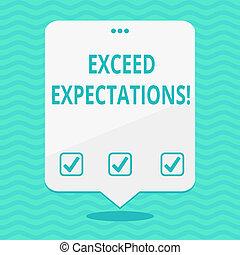 expectations., exceed, foto, señal, top., perforado, surpass, blanco, flotar, más allá de, espacio, globo, capaz, tres, discurso, texto, conceptual, blanco, acceptable, actuación, agujeros, perforanalysisce, o