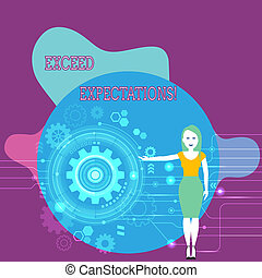 expectations., exceed, proceso, texto, señal, surpass, seo, más allá de, posición, capaz, foto, conceptual, actuación, rueda, mujer, engranaje, acceptable, interior., presentación, diente, perforanalysisce, o