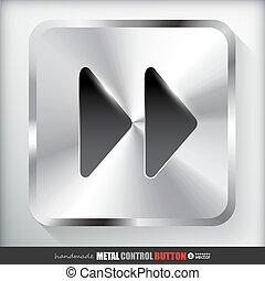 expedir, botão, metal, rapidamente