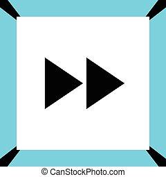 expedir, botão, vetorial, ícone