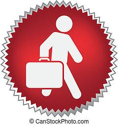 expedir, passageiro, em movimento, bagagem