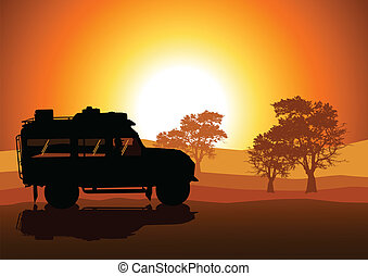 Expedition - Vector illustration of sport utility vehicle...