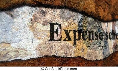 expence, concept, grunge, schema