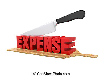 Expense Cuts Concept