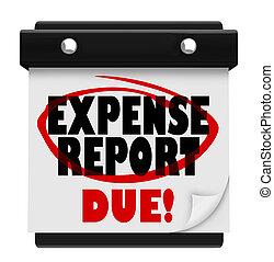Expense Report Due Date Calendar Deadline Submit