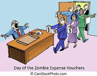 Expense vouchers - Day of the Zombie Expense Vouchers