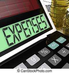 Expenses Calculator Means Company Costs And Accounting