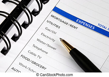 Expenses in the budget planning