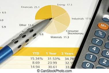 Expenses - Photo of a Pen, Chart and Calculator - Expense ...