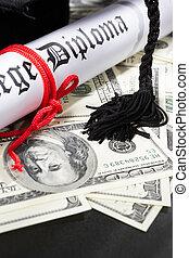 Expensive Education concept