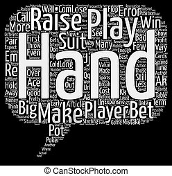 Expensive Errors in Hold em text background word cloud ...