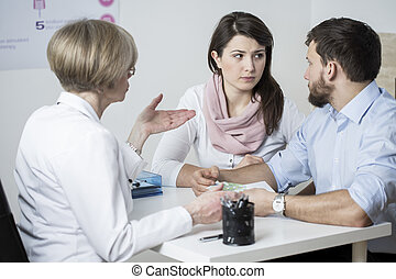 Expensive fertility treatment - Marriage couple paying for...