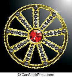 expensive gold diamond wheel