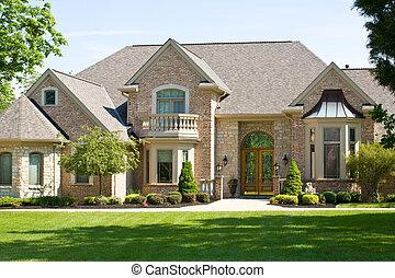 Expensive Home Against a Blue Sky