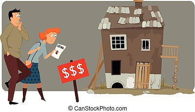 Expensive housing - Shocked buyers looking at a high price ...